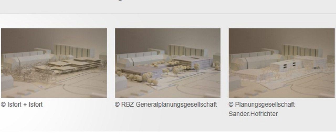 Entwürfe des neuen Gymnasium LEO werden gezeigt